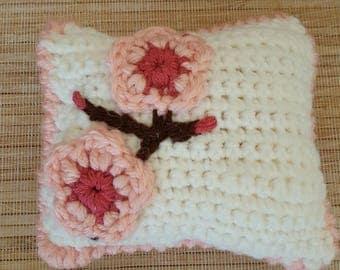 Japanese Cherry Blossom Crochet Pincushion
