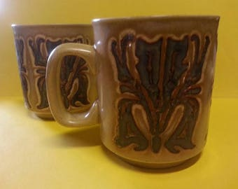Vintage MP Made in England Ceramic Mugs