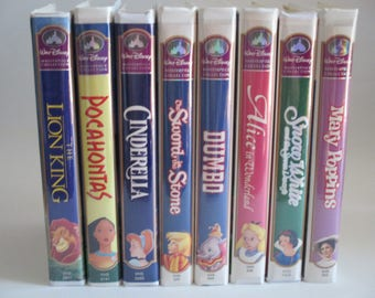 Disney Masterpiece Collection VHS Movies