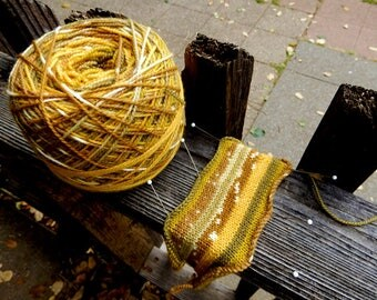 Color from my Garden naturally dyed sock yarn