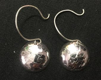 Half Domed Patterned Earrings