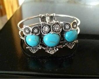 Owl sterling silver bracelet