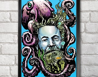 Jules Verne Poster Print A3+ 13 x 19 in - 33 x 48 cm  Buy 2 get 1 FREE