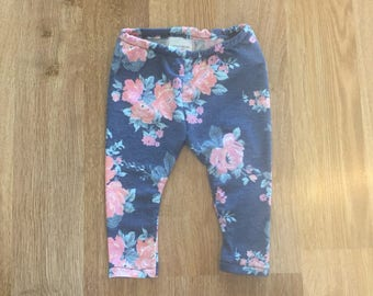 Floral leggings 3-6M