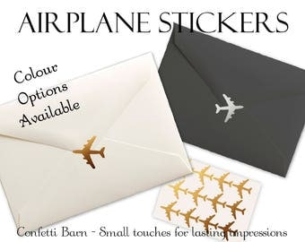 Airplane Stickers - Weddings - Across the Distance Relationships - Removable Vinyl - Envelope Sealing Stickers - Planner Stickers #71