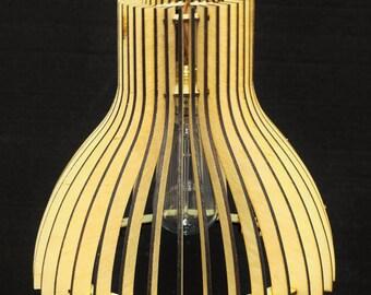 lasercut plywood wooden lampsade