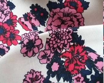 Richard Allan vintage rectangular silk scarf-floral motif