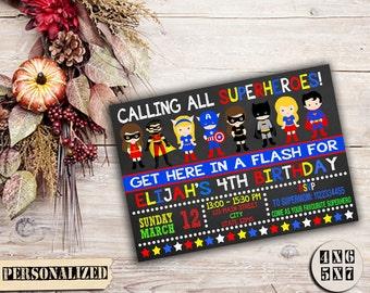 Superhero / SuperHero Invitation / SuperHero Birthday / Superhero Party / Superhero Birthday Invitation / Superhero Party Invitation / Lego