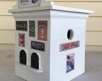Nostalgic ice cream shoppe bird house
