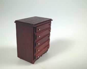 Bureau, Drawer, half scale, 1:24, dollhouse furniture