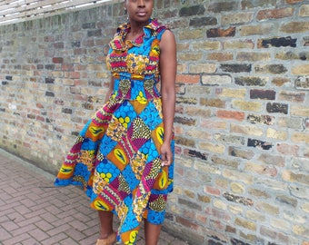 African Print Maxi Style Dress