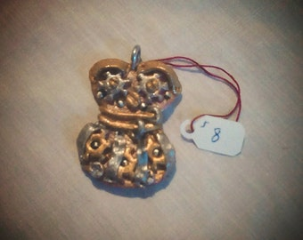 Steam punk corset pendant