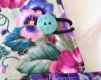 Tea Wallet in Spring Green and Pansy print