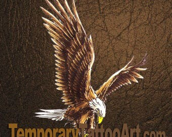 Temporary Tattoo Eagle - 2x3 inch