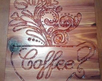 Cedar coffee sign