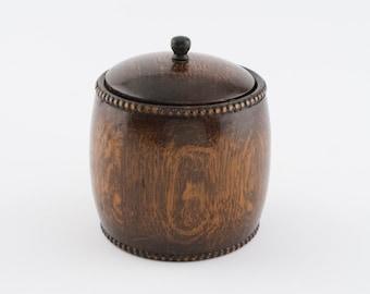 Vintage Wooden Cookie Biscuit Jar