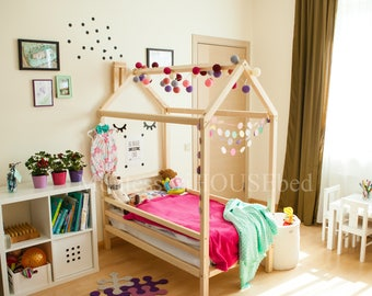 Kids Bedroom House children bed twin size montessori bed floor bed children