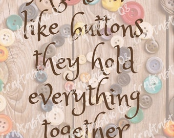 Mums are like buttons Poster ***INSTANT DOWNLOAD***