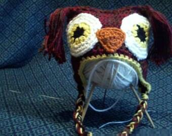 Owl Hat 0-3 Months