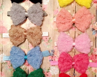 Rosette Bow Headbands