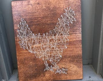 Chicken String Art