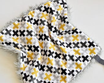 READY TO SHIP, Baby Lovey, Neutral Baby blanket, Lovey, Baby Blanket, Security blanket, Minky blanket, Baby Lovey Blanket, Boy Lovey, baby,