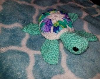 African motifs sea turtle, sea turtle, amigurumi turtle, sea turtle toy, gift for sea turtle lovers, stuffed turtle, stuffed sea turtle