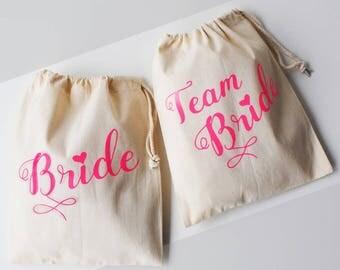 Hen Party Bags, Bride, Team Bride, Personalized Bachelorette Party Bag