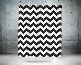 Black & White Chevron Shower Curtain