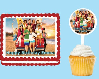 Teen Beach Movie Edible Cake Cupcake Cookie Toppers Decorations  Or Plastic cupcake pick top for birthday party