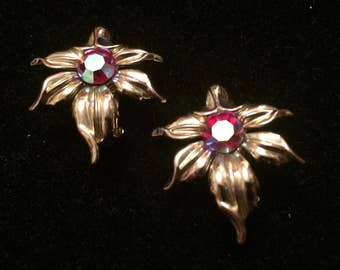 Vintage Signed Emmons Clip On Earrings