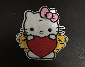 Hello Kitty, Hello Kitty Iron on Patches, 6.5x7.1cm size