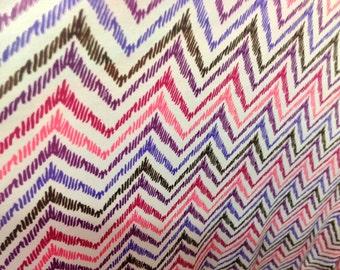 Chevron print polyester spandex