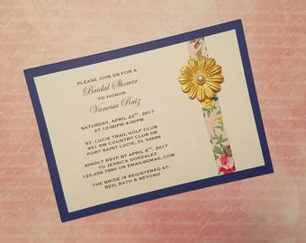 Floral Bridal Shower Invitations