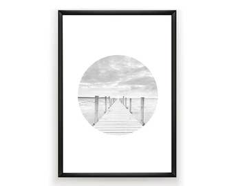 Ocean Photo, Ocean Photography, Ocean Art, Jetty Poster, Surf Poster, Jetty Photography, Summer Decor, Ocean Poster, Instant Download, Print