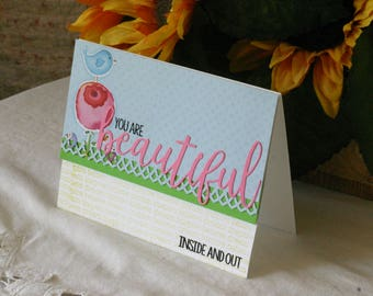 You are Beautiful Greeting Card Handmade