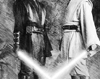 Star Wars - Anakin & Obiwan Print
