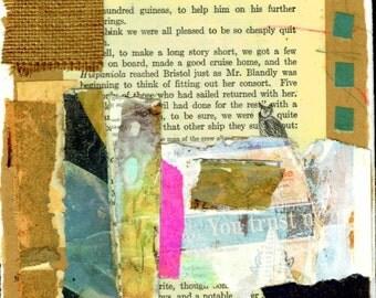 Treasure Island, Mixed Media Collage