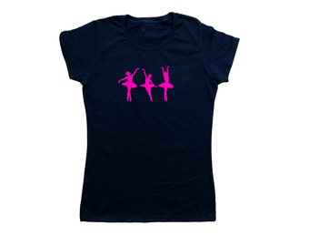 Designer t-shirt Ballett - 100% organic cotton tee fashion collection limited edition tshirt with ballerinas (men / women)