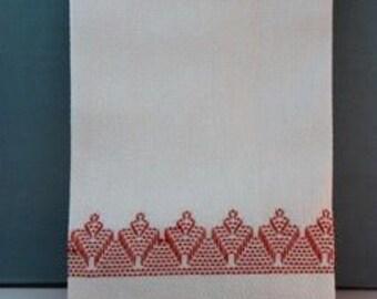 Handmade Swedish Weaving Huck Tea Towel