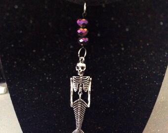 Mermaid skeleton choker necklace