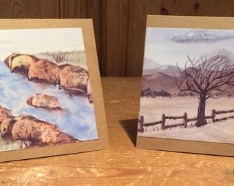 Landscape print cards from original artwork