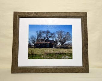 Uprooted Home Photo Framed and Matted