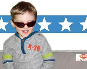selbstklebende Kinderbordüre: Sterne   Bordüren für Kinder, Sternenbordüre, Wandtattoo, Sterne,  Wandbordüre, Vliesbordüre,