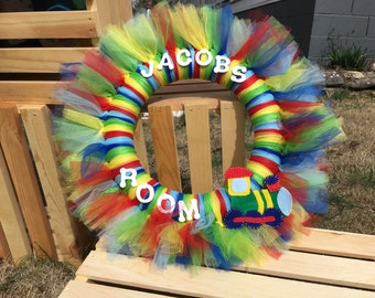 Personalized Tulle wreath