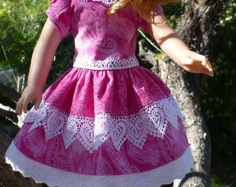 Wellie Wisher Handmade doll dress