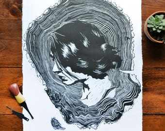 Self-Portrait // Relief Print
