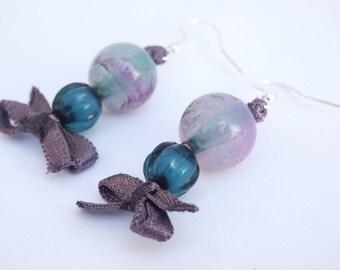 Handmade beadcraft earrings