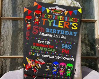 Power Rangers / Power Rangers Invitation / Power Rangers Birthday / Power Rangers Party / Power Rangers Birthday Invitation