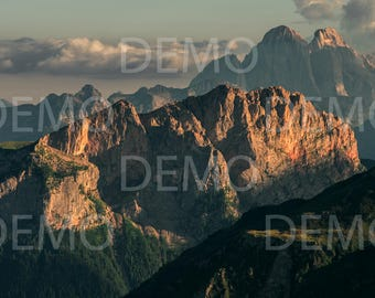 Dolomites #20 Landscape - View from Col di Lana - Digital Photo Download, Printable Photo, Photo For Print, Instant